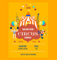 invitation to circus in form of posters decorated vector image