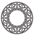 Mandalas Ethnic decorative elements in a circle vector image