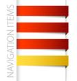 modern red navigation vector image
