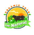 organic fresh product logofarm fresh vector image