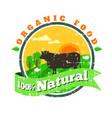 Organic fresh product logofarm fresh vector image