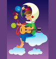 playing in space vector image