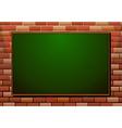 Blackboard on the brick wall vector image