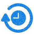 Repeat Clock Grainy Texture Icon vector image