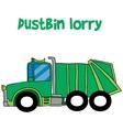 Green dustbin lorry cartoon collection vector image