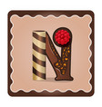 letter n candies chocolate vector image
