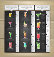 chalk drawing flat cocktail menu design vector image