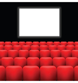cinema screen and red seats vector image
