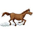 A running horse vector image
