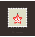 Christmas Star flat stamp vector image