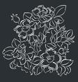 decorative flower background vector image vector image