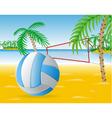 Beach volley vector image