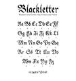 Blackletter font vector image