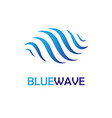 blue water wave logo aqua spa wellness logotype vector image