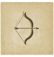 bow and arrow old background vector image