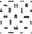 buildings and houses pattern eps10 vector image