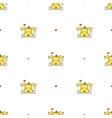 cartoon yellow dog with a bone seamless vector image