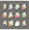 Chemical and science flask vector image