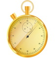 gold stopwatch vector image