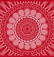 red mandala ethnic decorative elements indian vector image