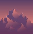 Stylized Image of Mountains at Sunrise vector image