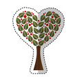 tree plant with heart ecological icon vector image