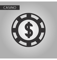 black and white style poker chips vector image