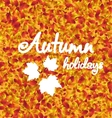 Autumn Holiday Background Leaves Texture vector image