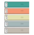 Modern Design template in pastel colors vector image