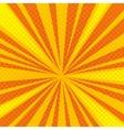 Pop art cartoon retro blast sunburst vector image