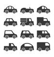 Car Icons Set on White Background vector image