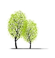Two spring trees for your design vector image vector image
