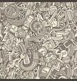 cartoon cute doodles hand drawn cars seamless vector image