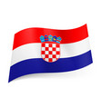 national flag of croatia red white and blue vector image