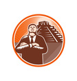 African American Businessman Protect Pyramid vector image