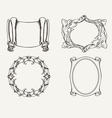 Four Ancient Frames vector image vector image