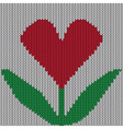 Knitted heart flower vector image