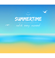 Summer background with sand and water vector image vector image