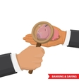 banking and saving concept vector image
