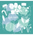 Background with Snowdrops-12 vector image