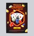 casino gambling game poster card template vector image