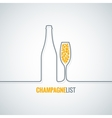 champagne glass bottle background vector image