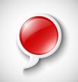 Chat Glossy Icon vector image