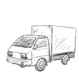 Hand drawn truck vector image