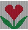 Knitted heart flower vector image