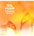 Oil pump vector image