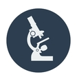 Single flat microscope icon vector image