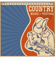 Country music background retro poster with man in vector image