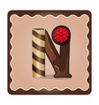 letter n candies vector image