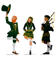 Irish Characters vector image